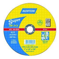 Disco-de-Corte-De-Aco-7-x-1-8-x-7-8-AR312-Super-Norton