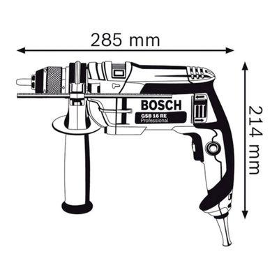 Furadeira Bosch de Impacto GSB 16 RE 750W 1/2 Pol