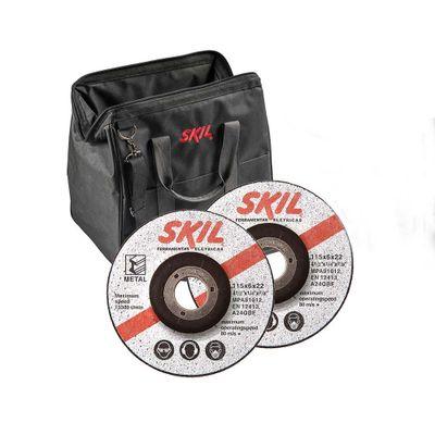 Esmerilhadeira Skil Angular 9004 830W 4.1/2 Pol com 2 Discos