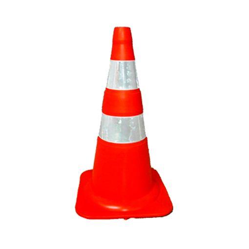 Cone-para-Sinalizacao-Plastcor-Flexivel-50cm-BrancoLaranja-Faixa-Refletiva