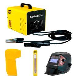 Maquina-de-Solda-Esab-Bantam-250---Capuz-Eletrodo-e-Mascara