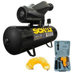 Compressor-Schulz-Audaz-MCSV-20-200---Chave-de-Impacto-10-soquetes-e-mangueira