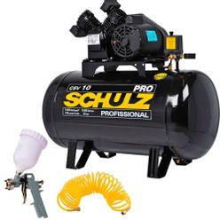 Compressor-Schulz-CSV-10-100-PRO---Pistola-Pro-500-e-Mangueira