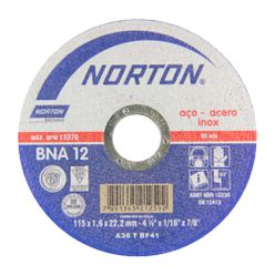 Disco-de-Corte-Norton-BNA-12-para-Inox-4.1-2-Polegadas