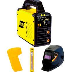 Maquina-de-Solda-Esab-Handyarc-140i---Capuz-Eletrodo-e-Mascara