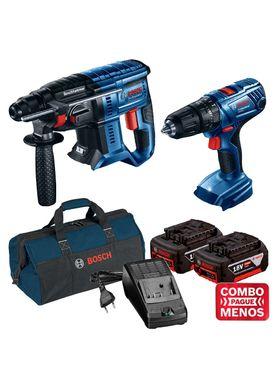 Kit-Bosch-Martelete-GBH-180-LI---Furadeira-de-Impacto-a-bateria-GSB-180-LI