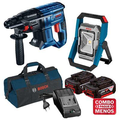 Kit-Bosch-Martelete-GBH-180-LI---Lanterna-a-bateria-18V-GLI-18V-1900