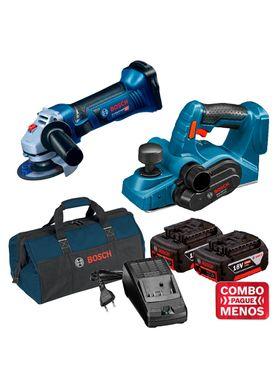 Kit-Bosch-Esmerilhadeira-Angular-GWS-18-125V-LI---Plaina-GHO-18V-LI