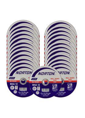 Kit-25-Discos-de-Corte-Norton-BNA-12-para-Inox-7-Polegadas-