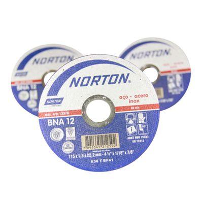 Kit-25-Discos-de-Corte-Norton-BNA-12-para-Inox-4.1-2-Polegadas