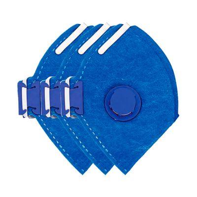Kit-Pistola-de-Pintura-HVLP-Tipo-Gravidade-600-ML-com-3-Mascaras-Air-Safety-PFF-1S-P1