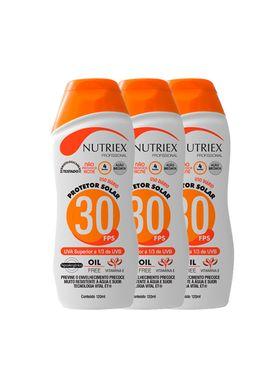 Kit-Protetor-Solar-Nutriex-UV-FPS-30-Bisnaga-120g-com-3-Unidades