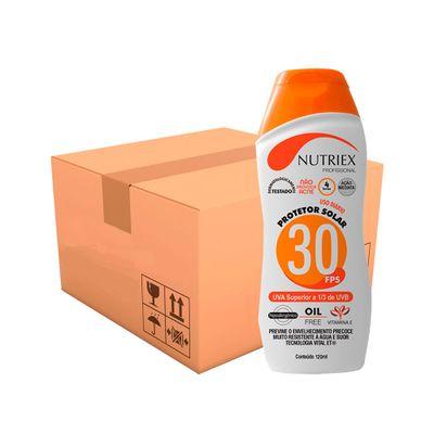 Kit-Protetor-Solar-Nutriex-UV-FPS-30-Bisnaga-120g-com-50-Unidades