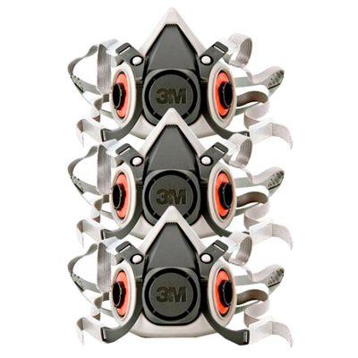 Kit-Mascara-Semifacial-3M-6200-Reutilizavel-com-3-Unidades