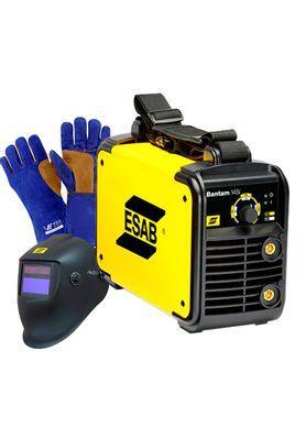 Maquina-de-Solda-Inversora-Esab-Bantam-145i-com-Mascara-e-Luva-para-Soldador