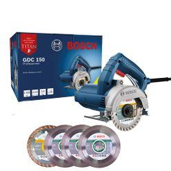 Kit-Serra-Marmore-Bosch-GDC-150-Titan-1500W-com-5-Discos