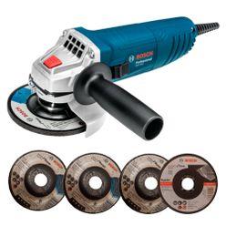Kit-Esmerilhadeira-Bosch-Angular-GWS-850-4.1-2-Pol-com-4-Discos