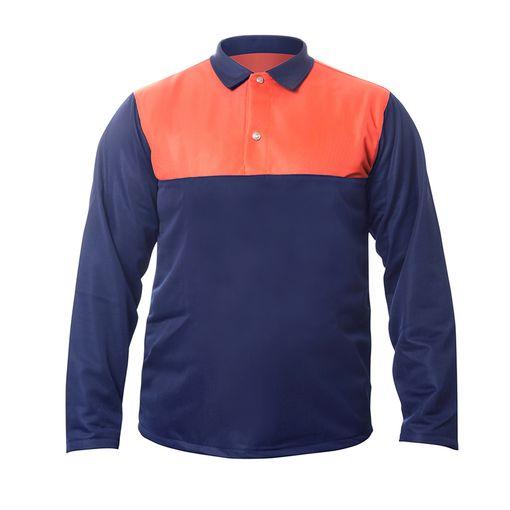 Blusa-para-Operador-de-Motosserra-Sayro-Laranja-e-Azul