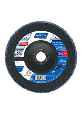 Disco-de-Lixa-Flap-Disc-Norton-Classic-G-40-7-Pol