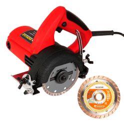 Kit-Serra-Marmore-Schulz-Eletrica-Manual-1100W-com-Disco-Diamantado-Husqvarna-Turbo-Flx-Cut-110mm