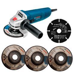 Kit-Esmerilhadeira-Bosch-Angular-GWS-850-4.1.2-Pol-com-3-Discos-e-1-de-Madeira