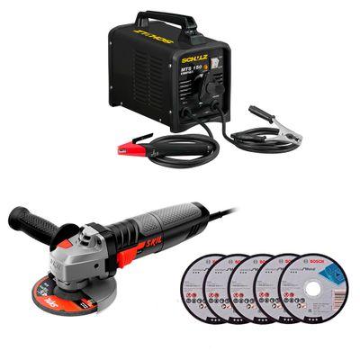 Kit-Maquina-de-Solda-Transformadora-Schulz-MTS-150-Compact-150A-E-Esmerilhadeira-Skil-Angular-9004-830W-4.1-2-Pol-com-5-Discos