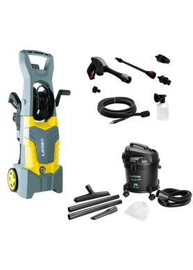 Kit-Lavadora-de-Alta-Pressao-Fast-Extra-135-com-Aspirador-de-Po-e-Agua-Lavor-Wash-Power-Duo-New