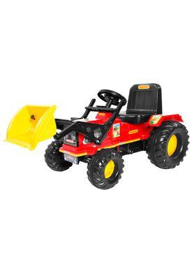 Trator-Infantil-Farmer-com-Pedal-e-Pa-Vermelho-Biemme