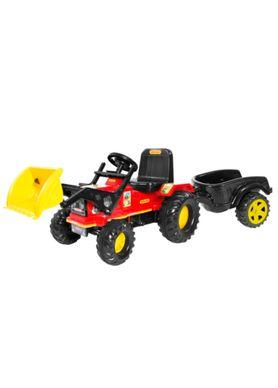 Trator-Infantil-Farmer-com-Cacamba-e-Pa-Vermelho-Biemme