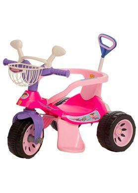 Triciclo-Super-Cross-com-Empurrador-Rosa-Biemme