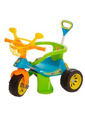 Triciclo-Super-Cross-com-Empurrador-Azul-Biemme