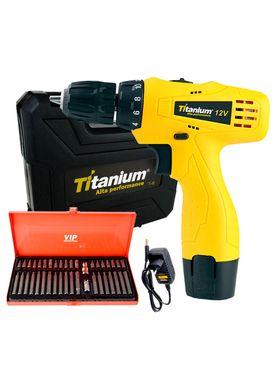 Kit-Parafusadeira-e-Furadeira-Titanium-a-Bateria-com-40-Pecas