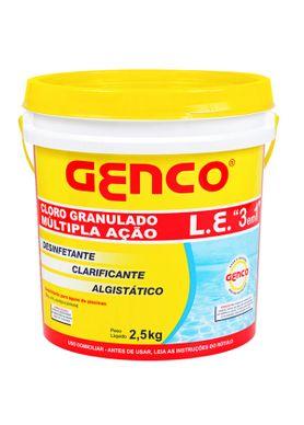 Cloro-para-Piscina-Genco-Granulado-3-em-1-Balde-com-25-kg